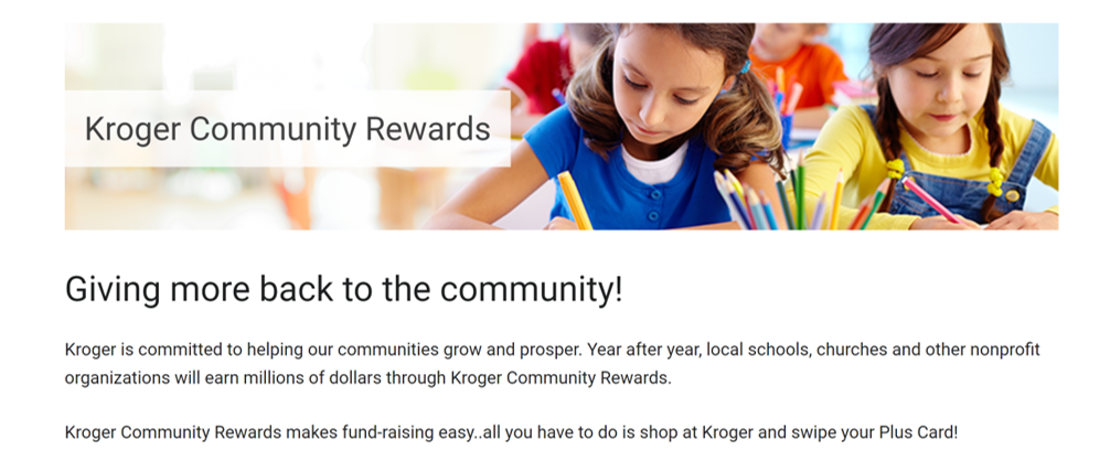Please link your Kroger rewards card to Historic St Paul AME Church organization id FL233